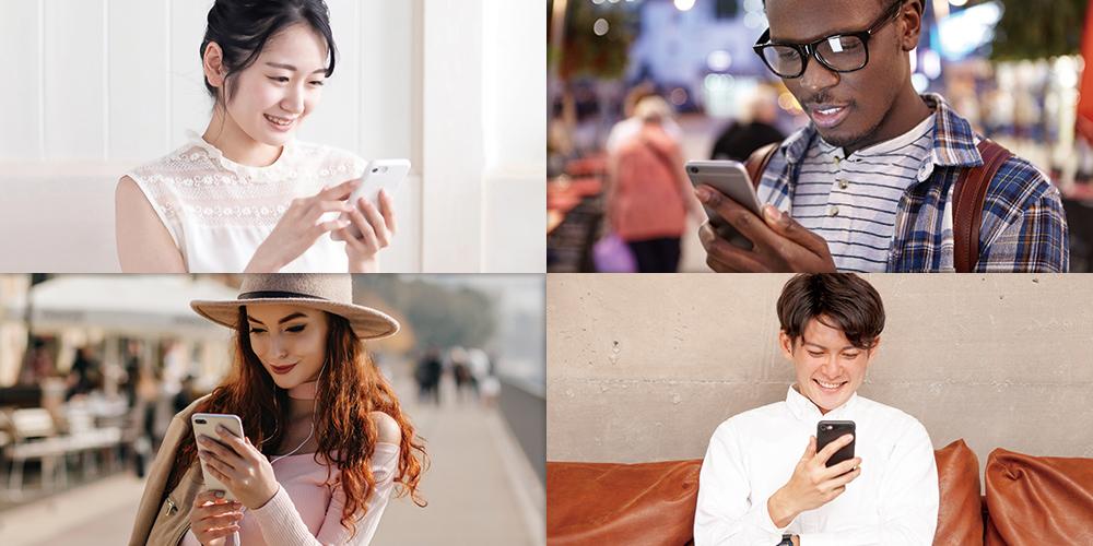 外国人と日本人のマッチングイメージ