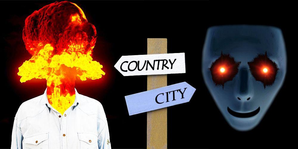 地方と都市の地雷人物の傾向