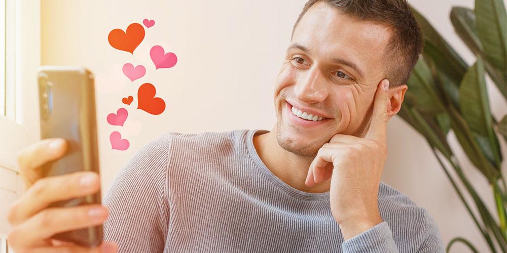 オンライン通話デートに成功した男性